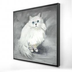 Framed 24 x 24 - 3D - Chinchilla persian cat