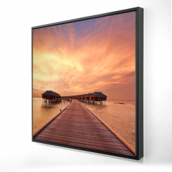 Framed 24 x 24 - 3D - Sea villas