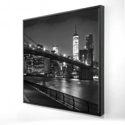 Framed 24 x 24 - 3D - City under the night