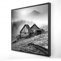 Framed 24 x 24 - 3D - Mountain carpathian village