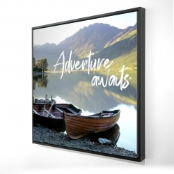 Framed 24 x 24 - 3D - Adventure awaits