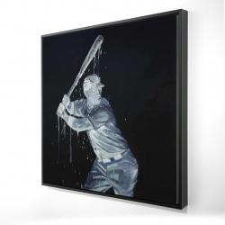 Framed 24 x 24 - 3D - Baseball player
