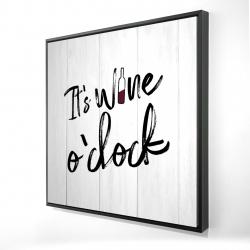 Encadré 24 x 24 - 3D - C'est l'heure du vin