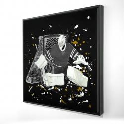 Framed 24 x 24 - 3D - Goalkeeper hockey