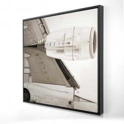 Encadré 24 x 24 - 3D - Dessous d'avion
