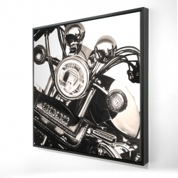 Framed 24 x 24 - 3D - Realistic sepia motorcycle