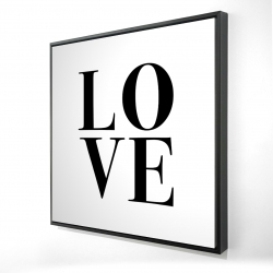 Framed 24 x 24 - 3D - Love