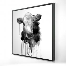 Framed 24 x 24 - 3D - Jersey cow