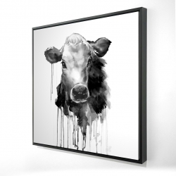 Framed 48 x 48 - 3D - Jersey cow