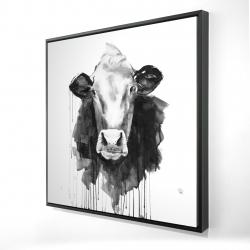 Framed 24 x 24 - 3D - Cow