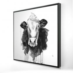 Framed 24 x 24 - 3D - Cow