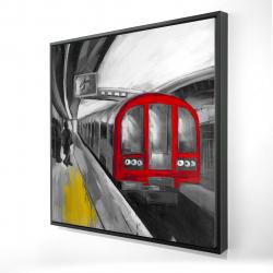Framed 24 x 24 - 3D - Waiting subway
