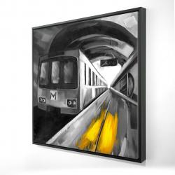 Framed 24 x 24 - 3D - Urban life