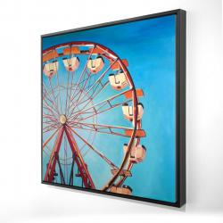 Framed 24 x 24 - 3D - Ferris wheel by a beautiful day