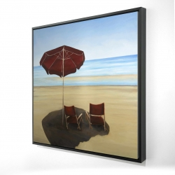 Framed 24 x 24 - 3D - Relax at the beach