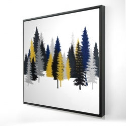 Framed 24 x 24 - 3D - Golden fir
