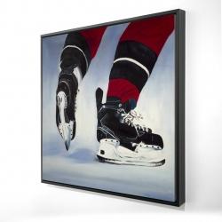 Framed 24 x 24 - 3D - Hockey player
