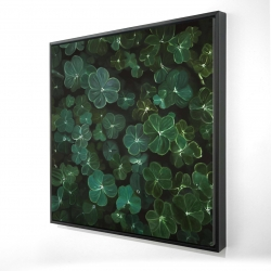Framed 36 x 36 - 3D - Clovers