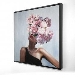 Framed 24 x 24 - 3D - See life in flowers