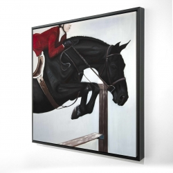 Framed 24 x 24 - 3D - Riding competition