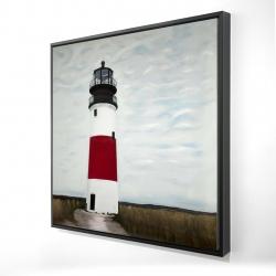 Framed 24 x 24 - 3D - Sankaty head lighthouse