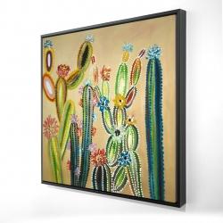 Framed 24 x 24 - 3D - Desert gems