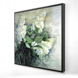 Framed 24 x 24 - 3D - White lilacs