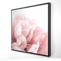 Framed 24 x 24 - 3D - Peony flower dream