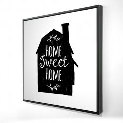Framed 24 x 24 - 3D - Home sweet home