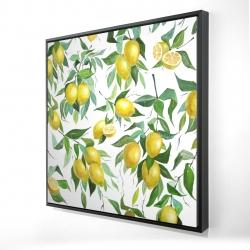 Framed 24 x 24 - 3D - Lemon pattern