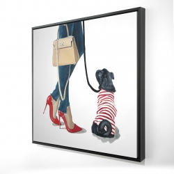 Framed 24 x 24 - 3D - Best friends fashion