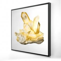 Framed 24 x 24 - 3D - Citrine stone