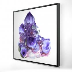 Framed 24 x 24 - 3D - Amethyst