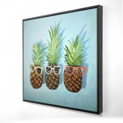 Framed 24 x 24 - 3D - Summer pineapples