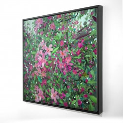 Framed 24 x 24 - 3D - Cherry tree blooming