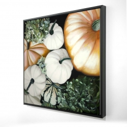 Framed 24 x 24 - 3D - Fall pumpkins