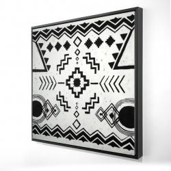 Framed 24 x 24 - 3D - Ethnic patterns