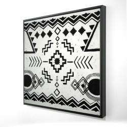 Framed 48 x 48 - 3D - Ethnic patterns