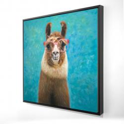 Framed 24 x 24 - 3D - Lovable llama