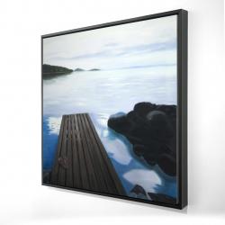 Framed 24 x 24 - 3D - Evening on the dock