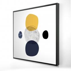 Framed 24 x 24 - 3D - Spheres