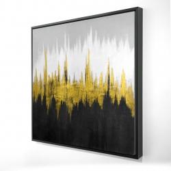 Framed 24 x 24 - 3D - Golden zigzag