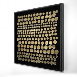 Framed 24 x 24 - 3D - Dots on gold