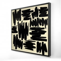 Framed 24 x 24 - 3D - Deconstructed stripes