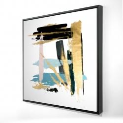Framed 24 x 24 - 3D - Pastel stroke