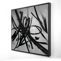 Framed 24 x 24 - 3D - Circular strokes