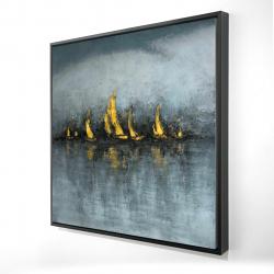 Framed 24 x 24 - 3D - Set sail