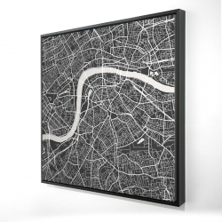 Framed 24 x 24 - 3D - Graphic map of london