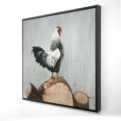 Framed 24 x 24 - 3D - Wyandotte rooster