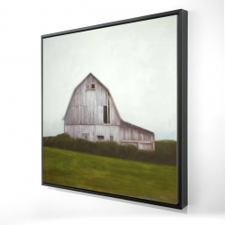 Framed 48 x 48 - 3D - Rustic barn